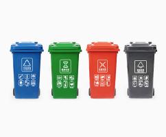 四分类塑料桶