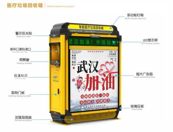 广告口罩专用垃圾箱多功能灯箱/超大广告面
